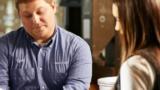 Grain merchandiser discussing data with a customer